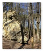 Peach Tree Rock-5 Fleece Blanket