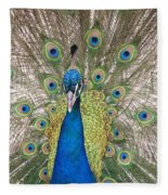 Peacock Full Plumage Fleece Blanket