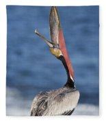 Pelican Head Throw Fleece Blanket