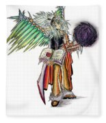 Pelusis God Of Law And Order Fleece Blanket by Shawn Dall
