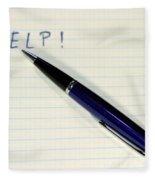Pen Help Fleece Blanket
