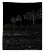 Pencil - Water Rippling In The Coastal Lagoon Fleece Blanket