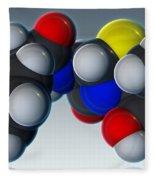 Penicillin V Molecular Model Fleece Blanket
