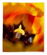 Petals And Sun Fleece Blanket