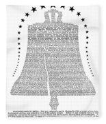 Philadelphia: Liberty Bell Fleece Blanket