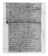 Phillis Wheatley (1753?-1784) Fleece Blanket