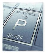 Phosphorus Chemical Element Fleece Blanket