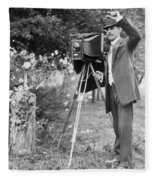 Photographer, C1911 Fleece Blanket
