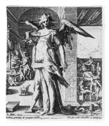 Physician As Angel Fleece Blanket