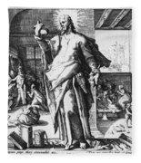Physician As God Fleece Blanket