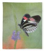 Piano Key Butterfly1 Fleece Blanket