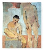 Picasso's Two Youths Fleece Blanket