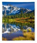 Picture Lake Fleece Blanket