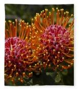 Pincushion Flowers Fleece Blanket