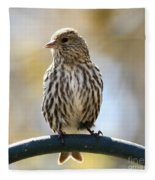 Pine Siskin Fleece Blanket