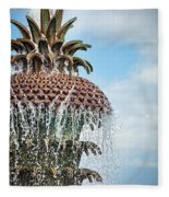 Pineapple Fountain Fleece Blanket