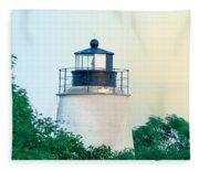 Piney Point Maryland Lighthouse Fleece Blanket