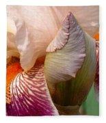 Pink And Purple Iris Fleece Blanket