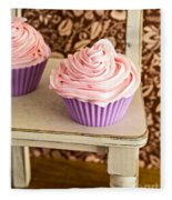 Pink Cupcakes Fleece Blanket