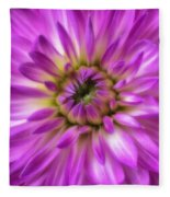 Pink Dahlia Close Up Fleece Blanket