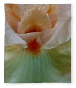 Pink Iris Fleece Blanket
