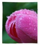 Pink Rain Drops Fleece Blanket