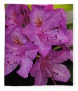 Pink Rhododendron Fleece Blanket