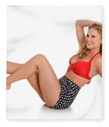 Pinup Girl Fleece Blanket