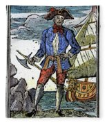 Pirate Edward England Fleece Blanket
