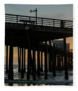 Pismo Beach Pier At Sunset, San Luis Fleece Blanket