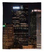 Pittsburgh Up Close Fleece Blanket