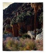Plants On Landscape, Anza Borrego Fleece Blanket