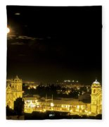 Plaza De Armas Cuzco Peru Fleece Blanket