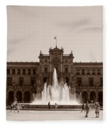 Plaza De Espana Fleece Blanket