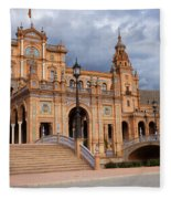 Plaza De Espana Pavilion In Seville Fleece Blanket