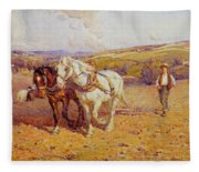 Ploughing Fleece Blanket