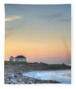 Point Judith Lighthouse Fleece Blanket