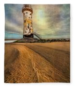 Point Of Ayre Lighthouse Fleece Blanket