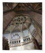 pointed vault of Saint Barbara church Fleece Blanket