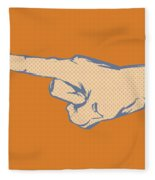 Pointing Finger Vector Fleece Blanket