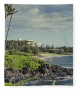Polo Beach Wailea Point Maui Hawaii Fleece Blanket