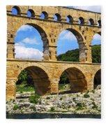 Pont Du Gard In Southern France Fleece Blanket