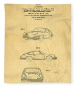 Porsche 911 Carrera 1964 Patent Art  Fleece Blanket
