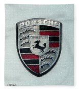 Porsche Emblem  Fleece Blanket