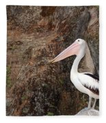 Portrait Of An Australian Pelican Fleece Blanket
