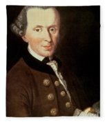 Portrait Of Emmanuel Kant Fleece Blanket