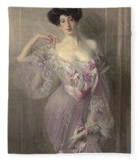 Portrait Of Ena Wertheimer Fleece Blanket