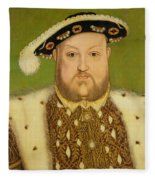 Portrait Of Henry Viii Fleece Blanket