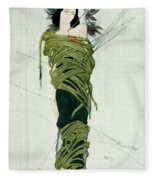 Portrait Of Ida Lvovna Rubinstein Fleece Blanket