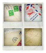 Postal Still Life Fleece Blanket